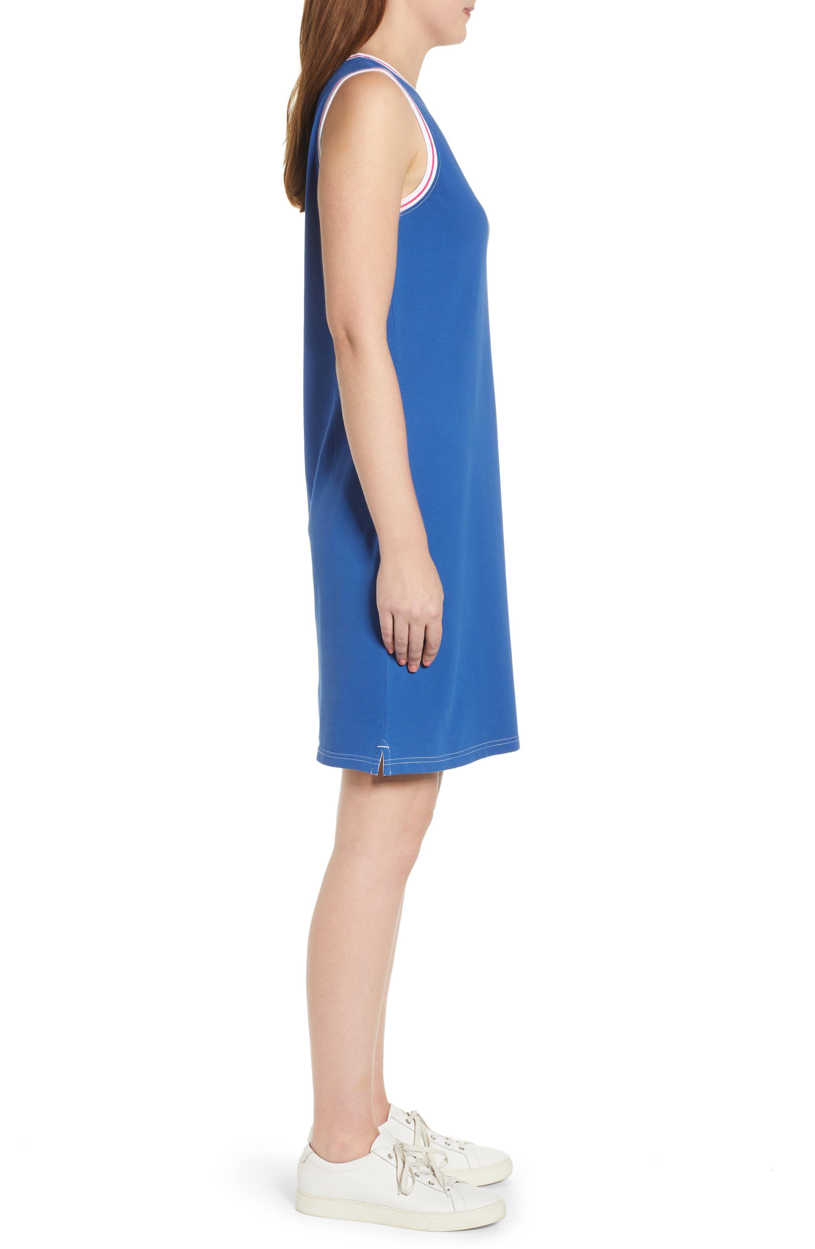 ,                             Paradise Classic Sleeveless Dress,                             Alternate thumbnail 4, color,                             MONACO BLUE