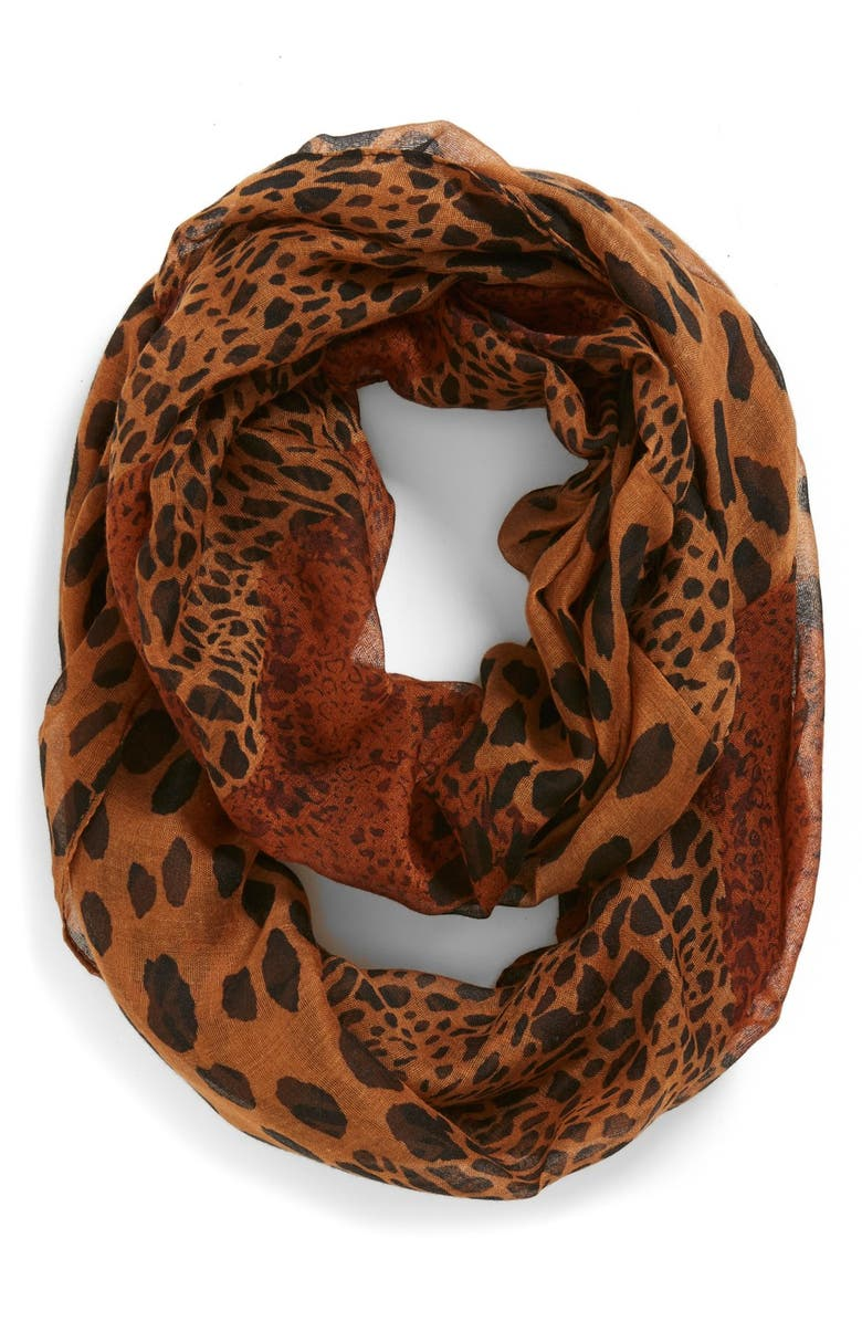 BP. Mixed Leopard Print Infinity Scarf, Main, color, 200