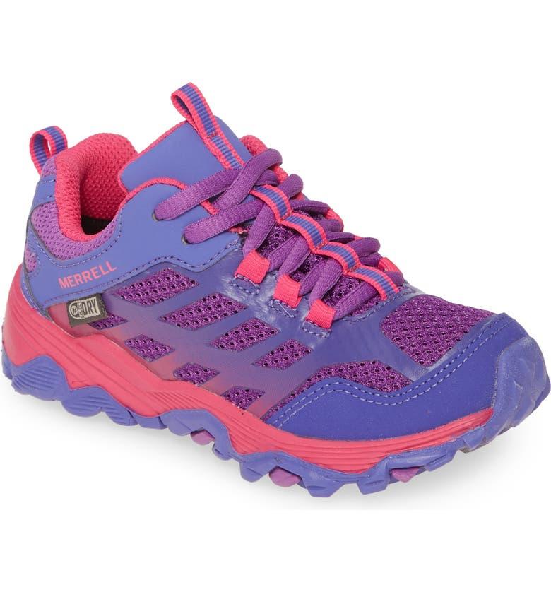 MERRELL Moab FST Waterproof Sneaker, Main, color, PURPLE/ PINK