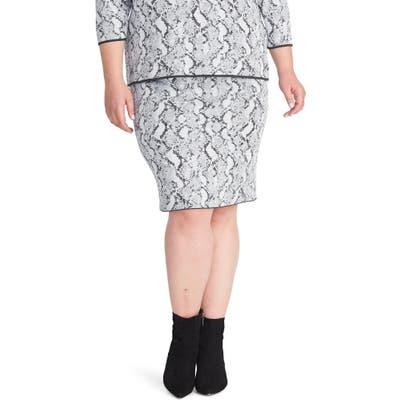 Plus Size Rachel Rachel Roy Lindey Sweater Skirt, Grey