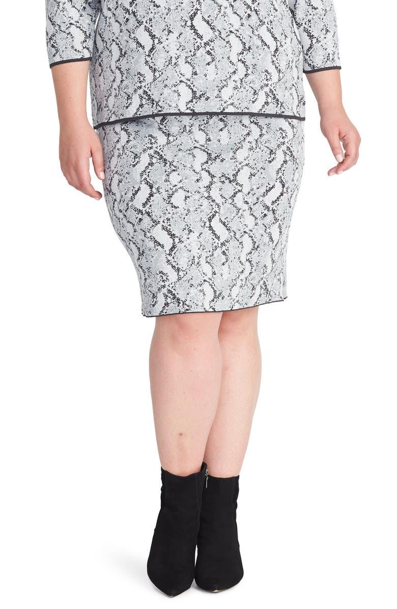RACHEL RACHEL ROY Lindey Sweater Skirt, Main, color, GREY COMBO