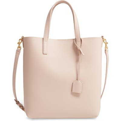 Saint Laurent Toy North/south Leather Tote - Pink