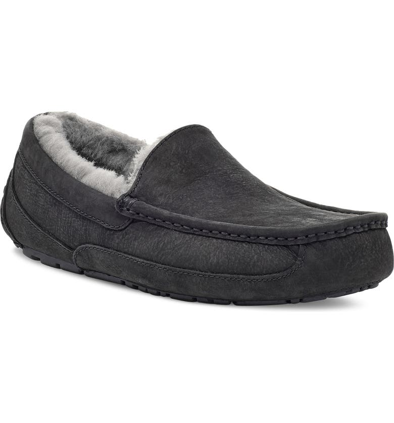 UGG<SUP>®</SUP> Ascot Suede Slipper, Main, color, 004