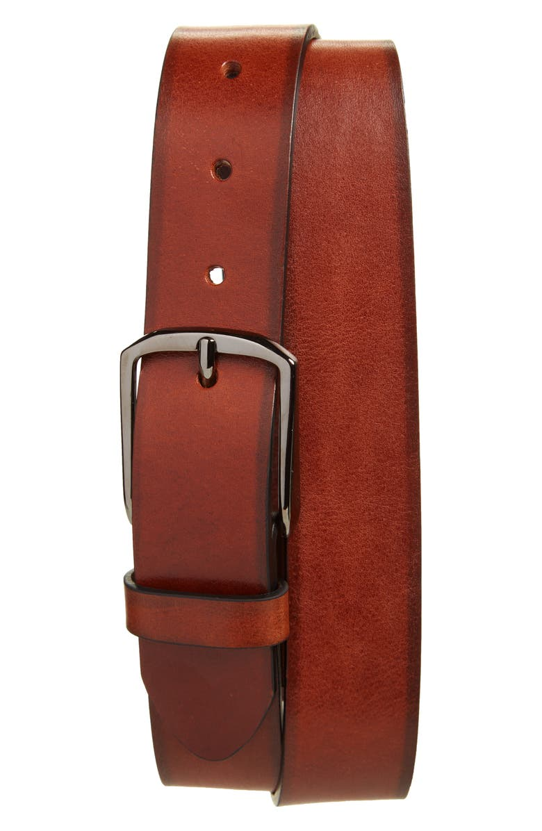 NORDSTROM MEN'S SHOP Jones Leather Belt, Main, color, COGNAC
