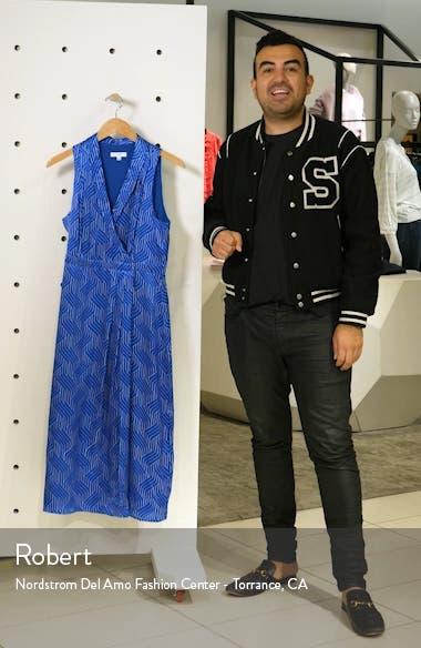 Katherine Geo Print Sleeveless Satin Midi Dress, sales video thumbnail