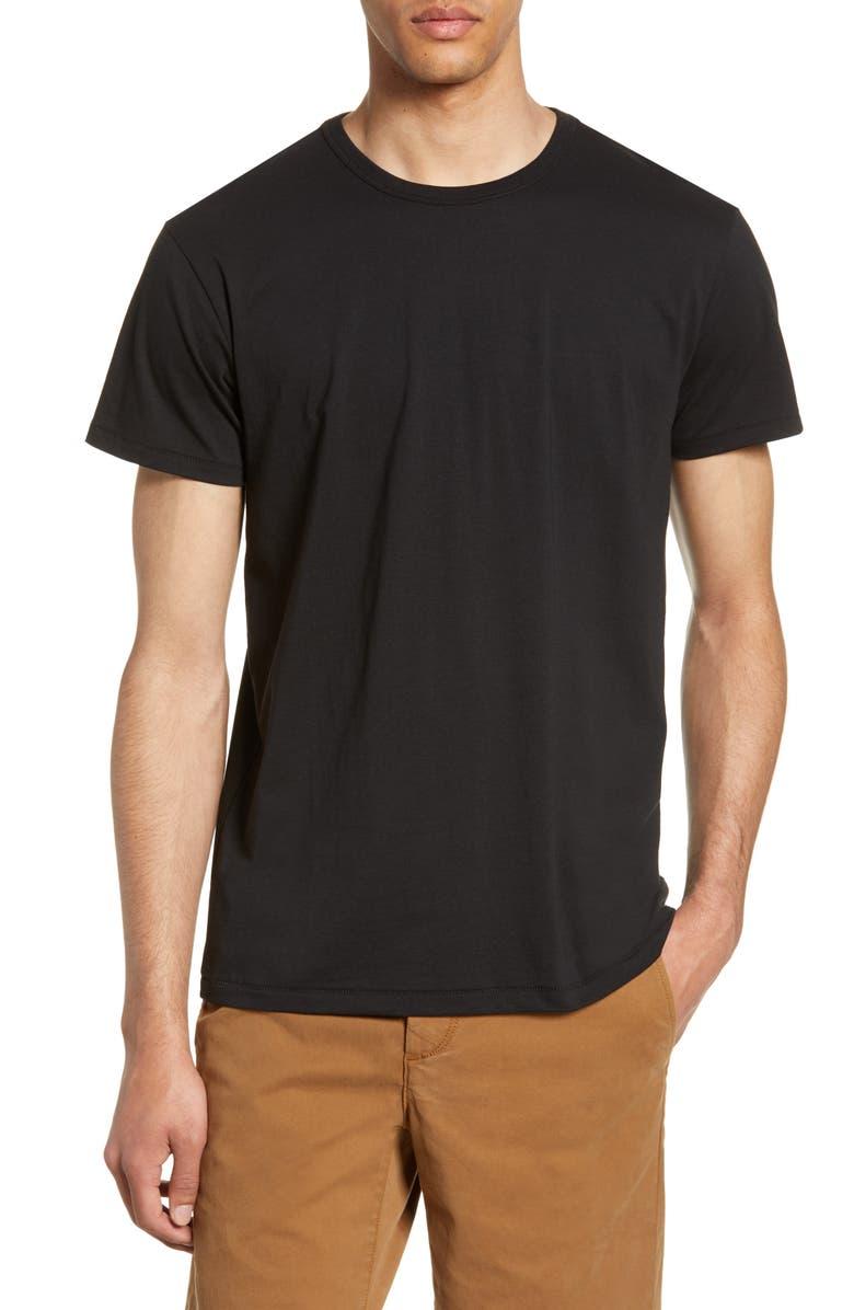 RAG & BONE Classic Base Slim Fit T-Shirt, Main, color, BLACK