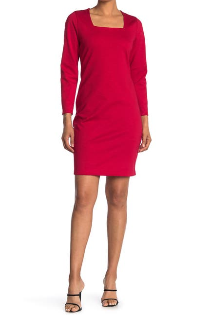 Image of MAX & ASH Square Neck Bodycon Dress