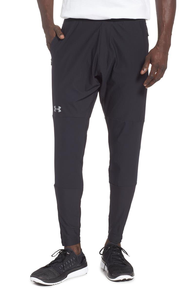UNDER ARMOUR Threadborne Vanish Tapered Slim Fit Pants, Main, color, 001