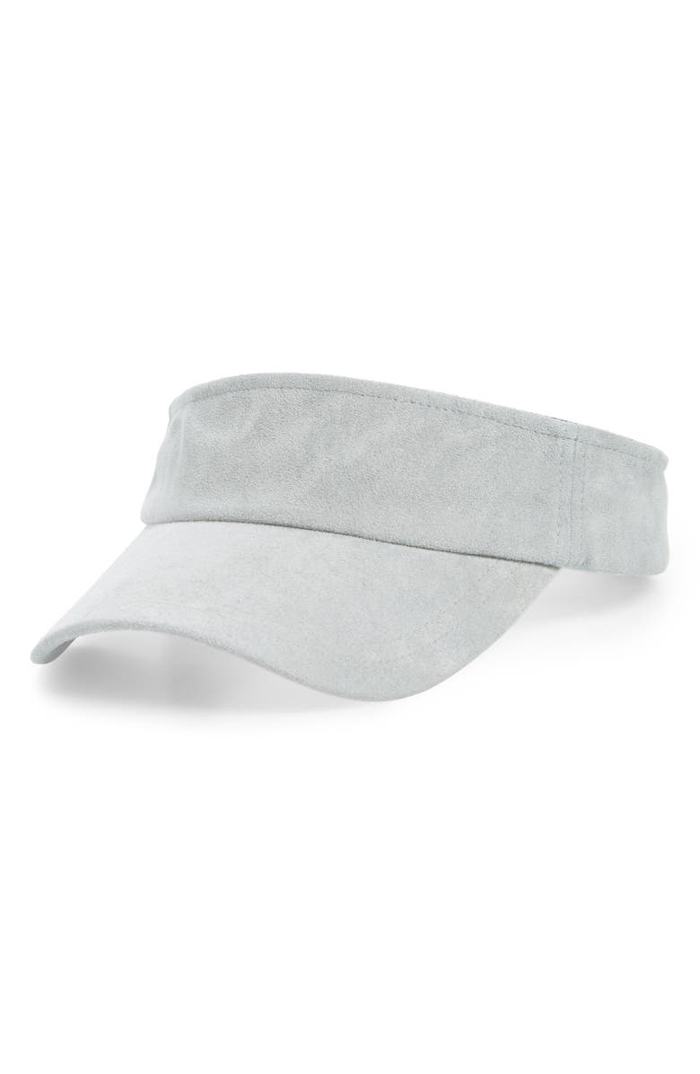 SWEAT ACTIVE Ultra Faux Suede Tennis Visor, Main, color, GRAY