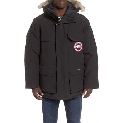 Canada Goose Expedition Extreme Weather Fusion Fit 625 Fill Power Down Parka With Genuine Coyote Fur Trim, Black