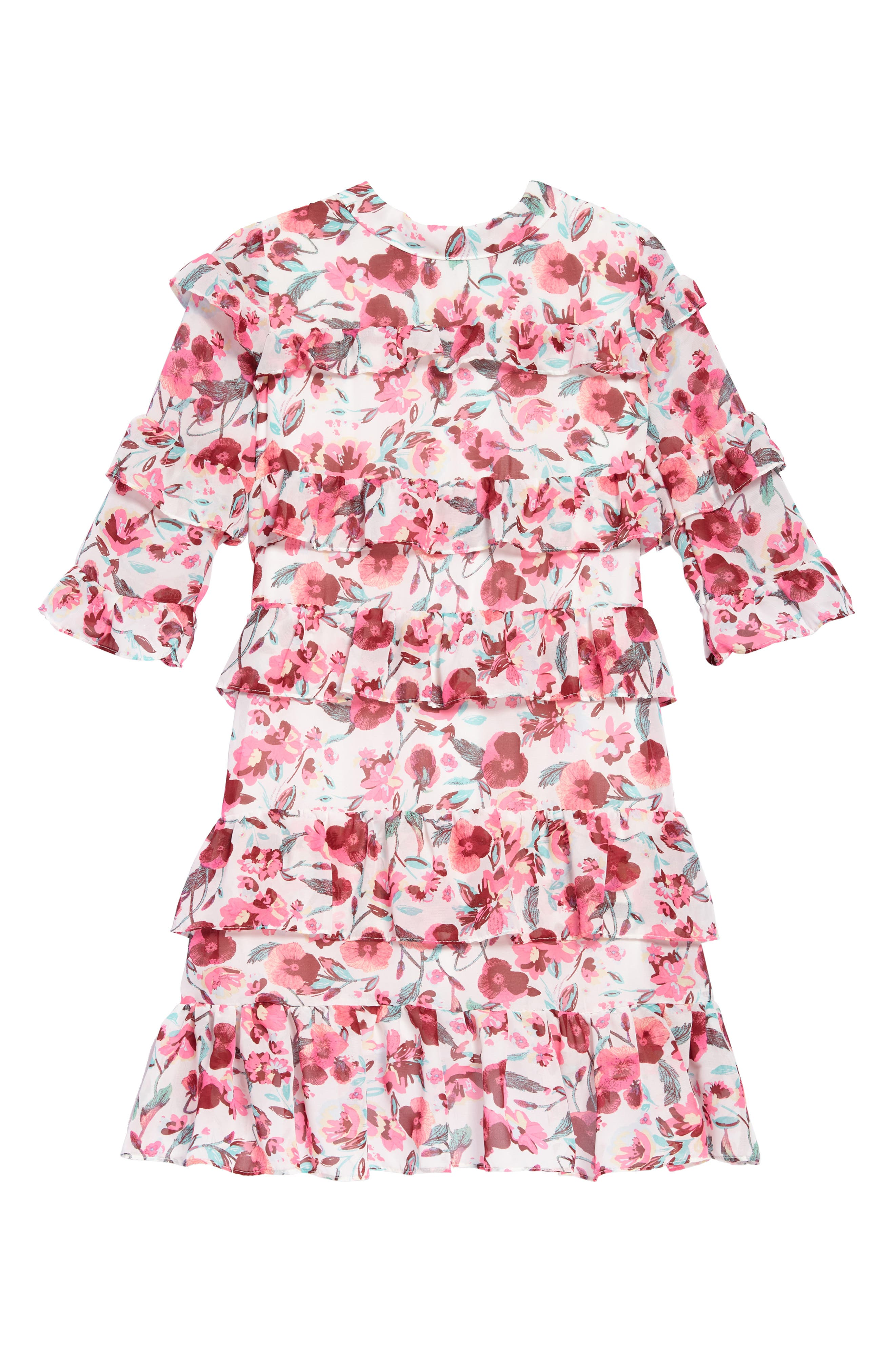 Image of AVA AND YELLY Tiered Ruffle Dress