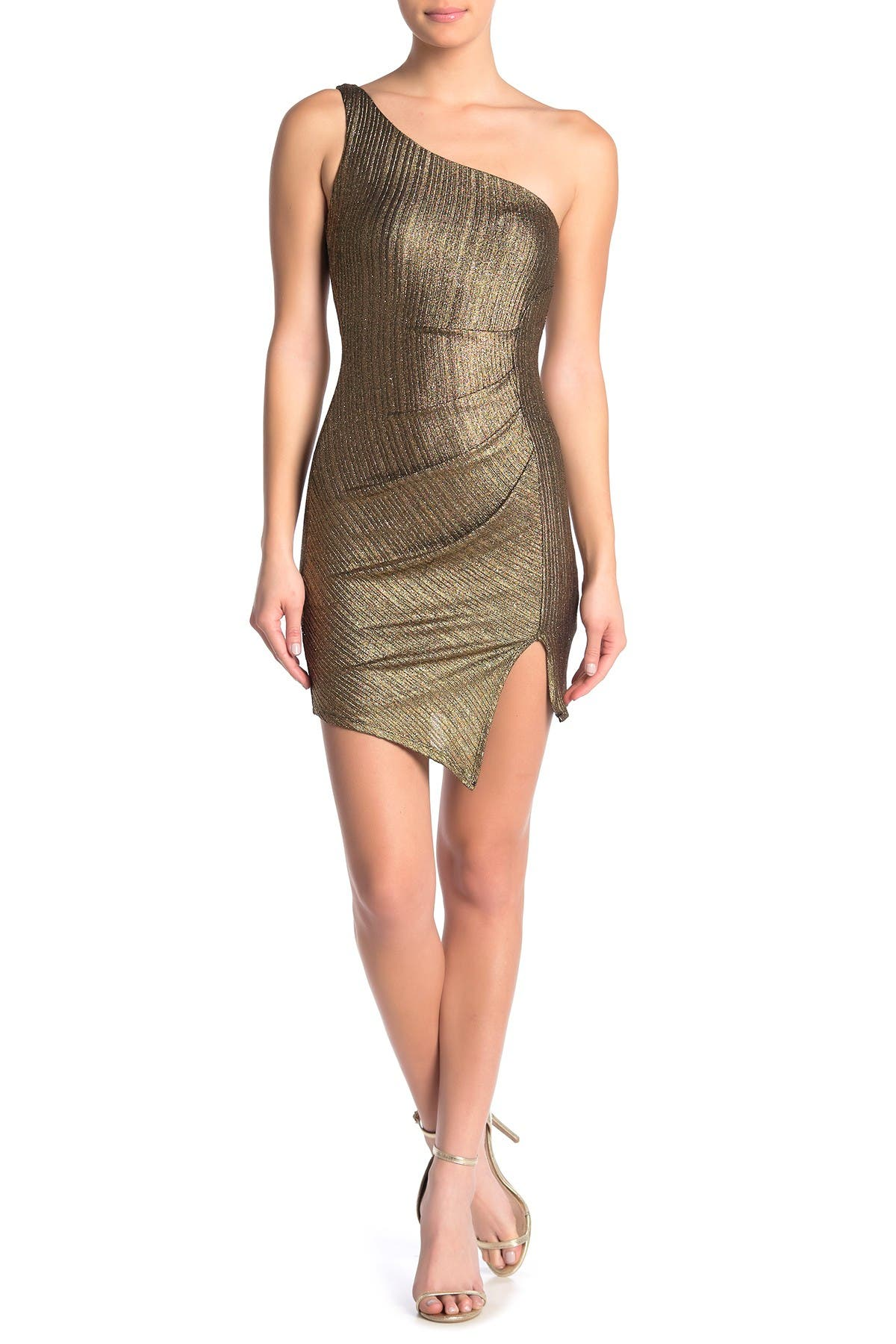JUMP One Shoulder Glitter Mini Dress