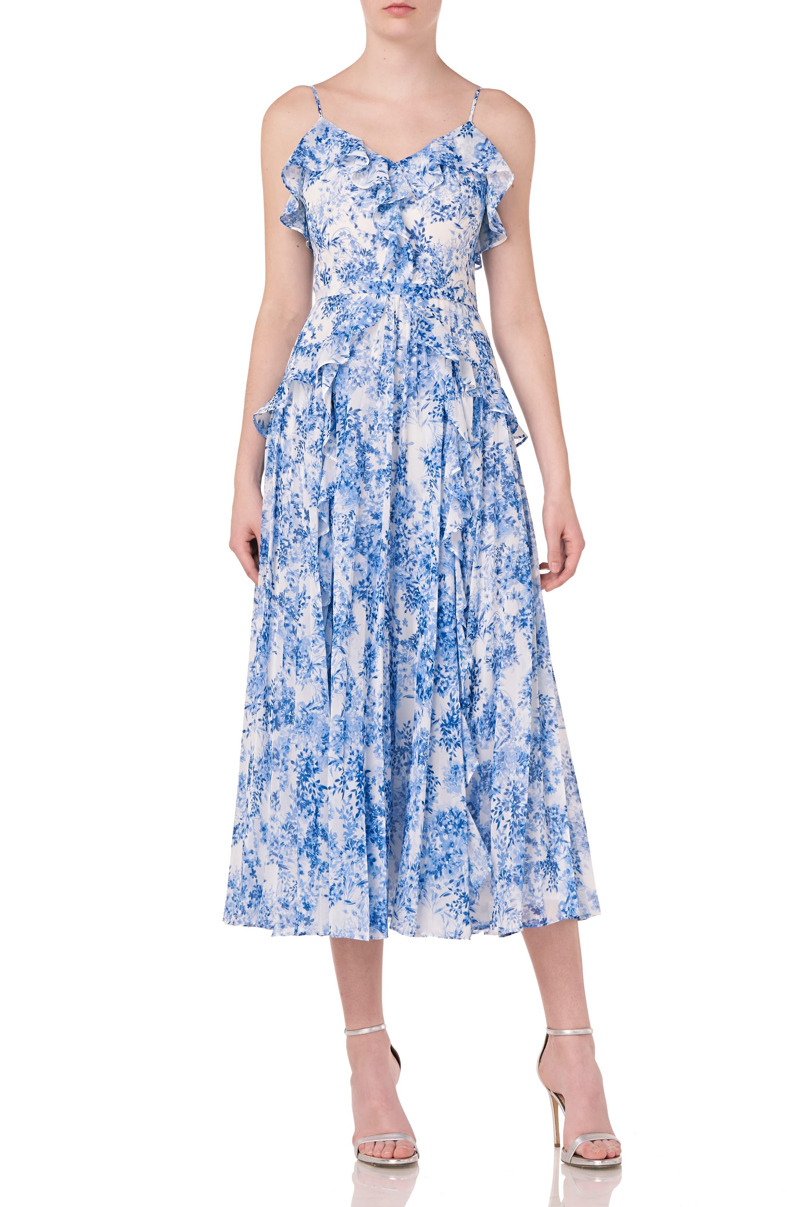 Sleeveless Printed Midi Dress