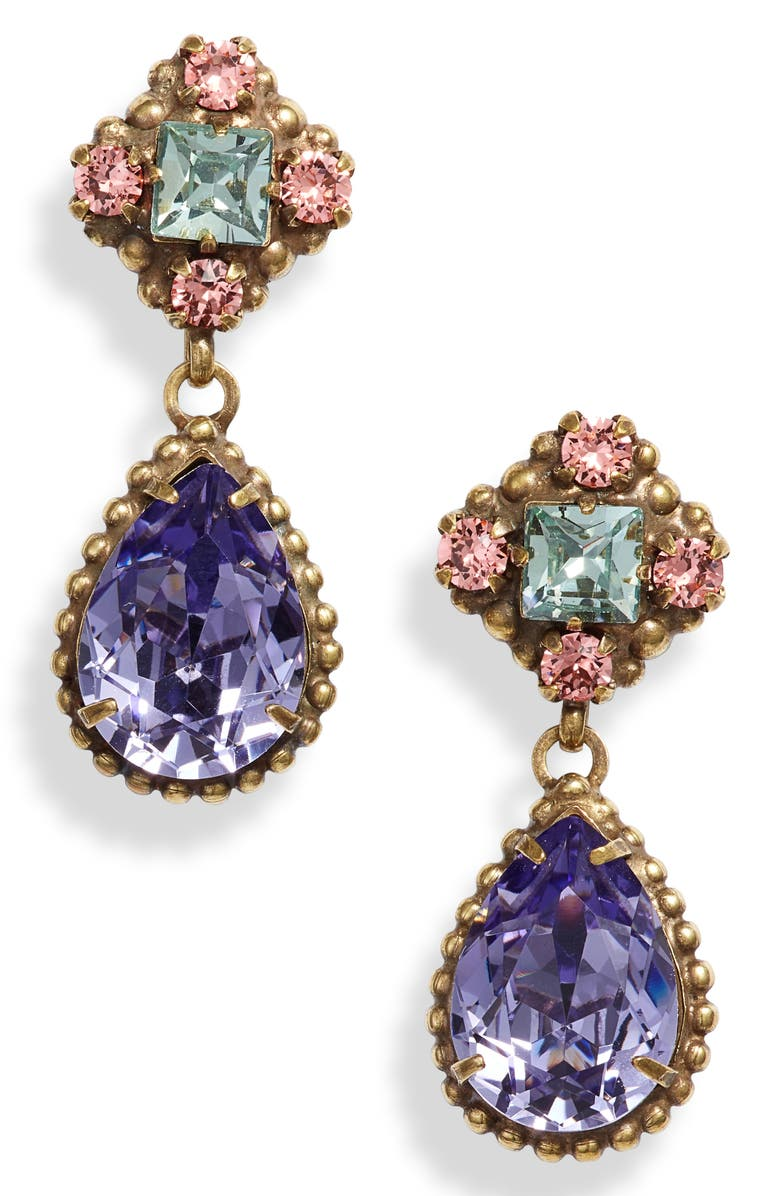 Sorrelli Bohemian Bright Posey Crystal Drop Earrings