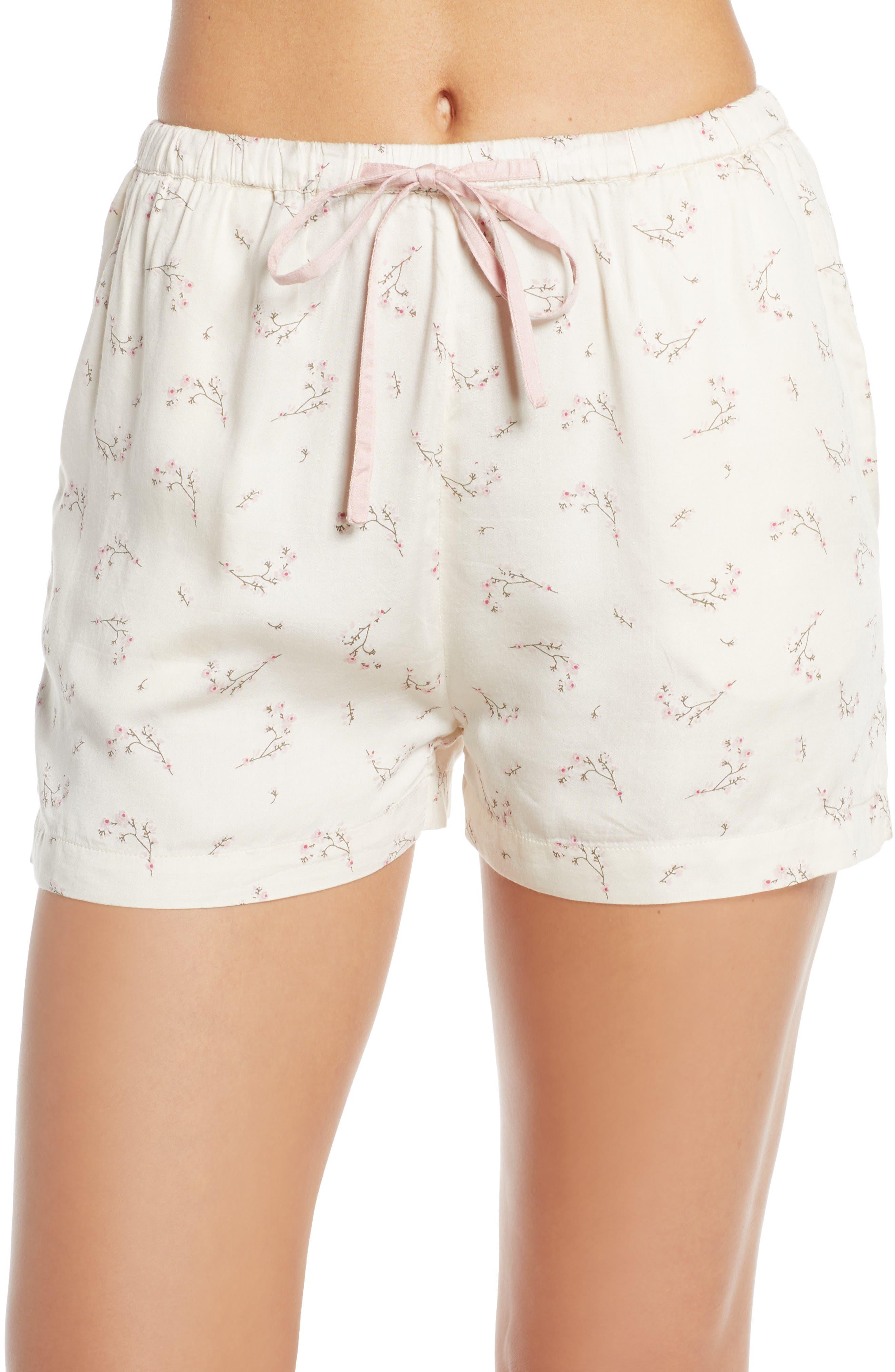 Naked Bliss Pajama Shorts, Ivory