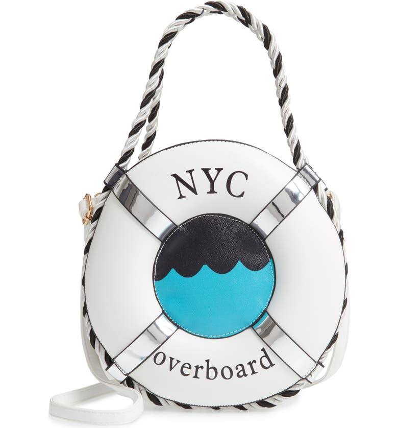 KNOTTY NYC Overboard Life Preserver Crossbody Bag, Main, color, WHITE