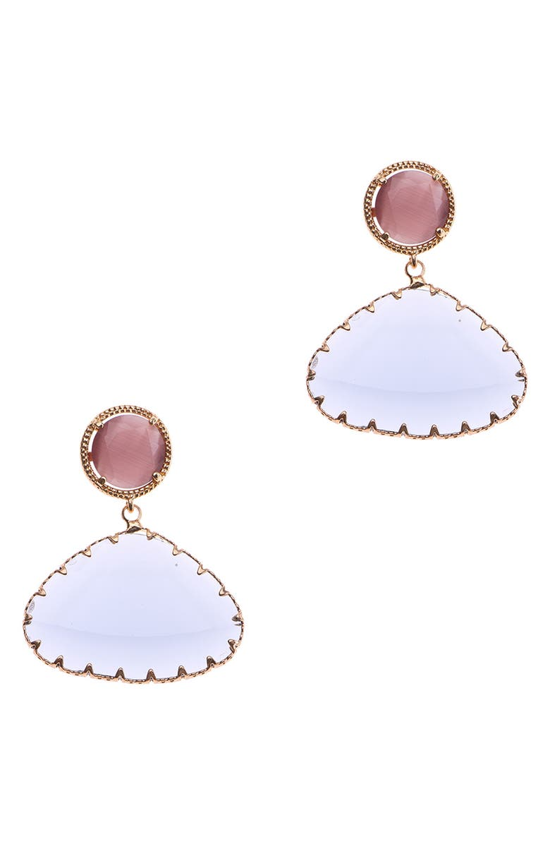 NAKAMOL CHICAGO Nude Crystal Drop Earrings, Main, color, PINK/ WHITE/ GOLD