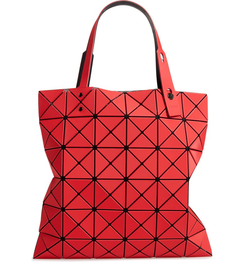 BAO BAO ISSEY MIYAKE Lucent Frost Tote, Main, color, RED