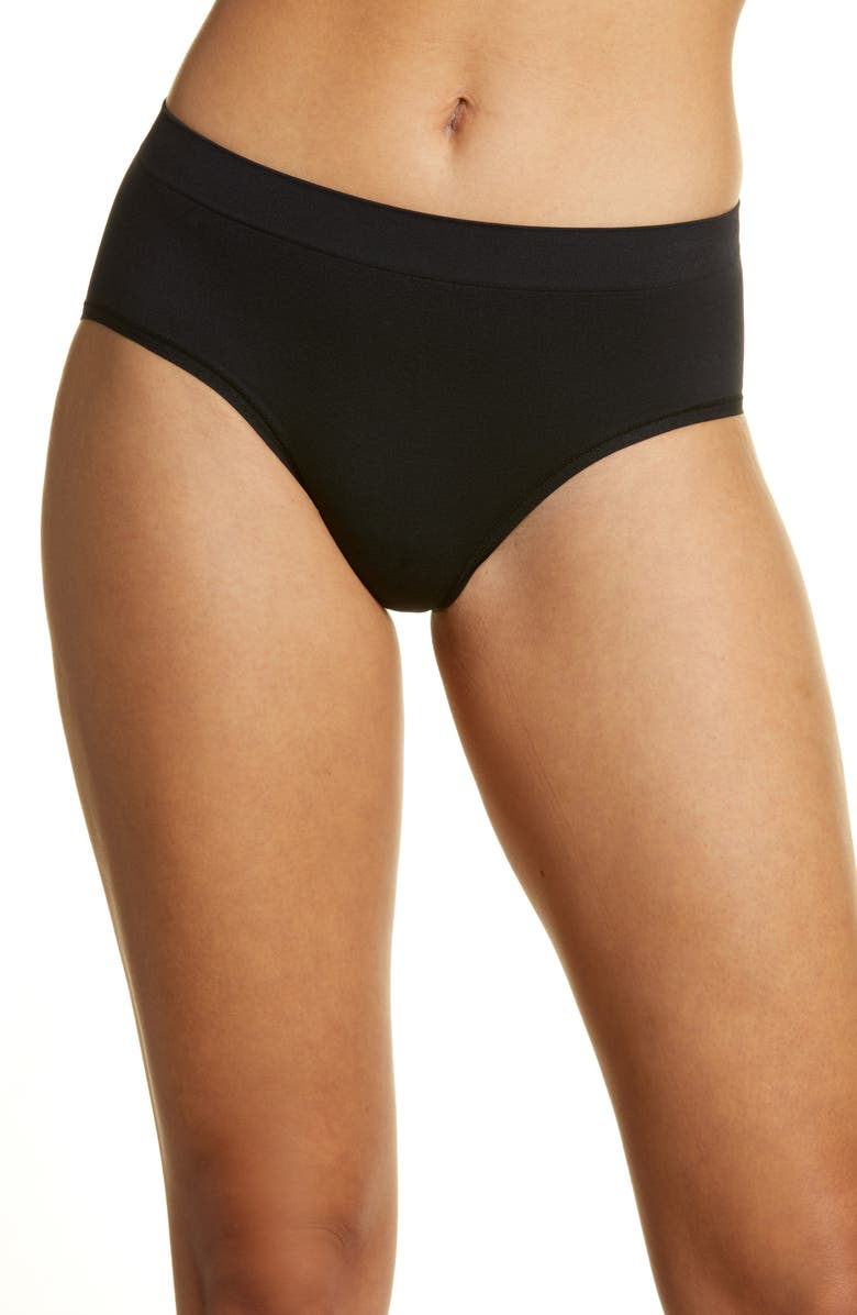 NORDSTROM Bare Hipster Panties, Main, color, BLACK