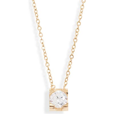 Knotty Crystal Charm Necklace