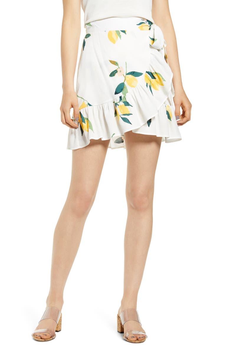 RAILS Etienne Wrap Skirt, Main, color, LEMON GROVE