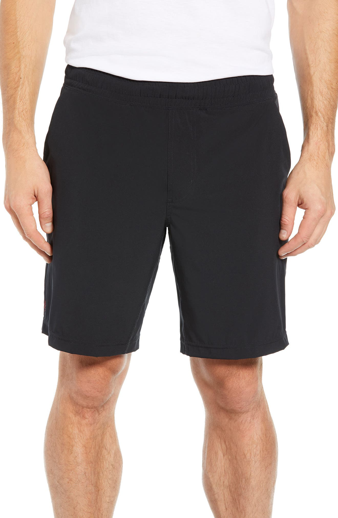 Mobility-enhanced four-way-stretch shorts provide ultimate active comfort with a water-resistant surface that\\\'s able to wick away moisture. A side zip stash pocket keeps cards and keys secure when you run. Style Name: Rhone Mako Lined Shorts. Style Number: 5729565. Available in stores.