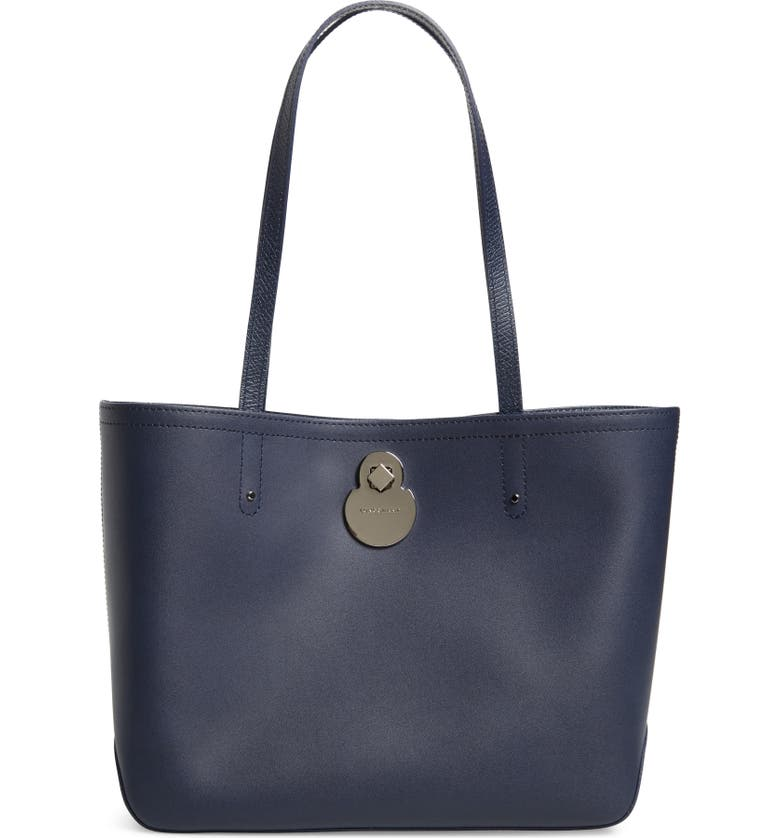 LONGCHAMP Small Cavalcade Leather Tote, Main, color, NAVY