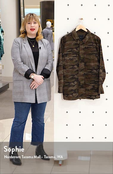 Salute Camo Print Stretch Cotton Jacket, sales video thumbnail