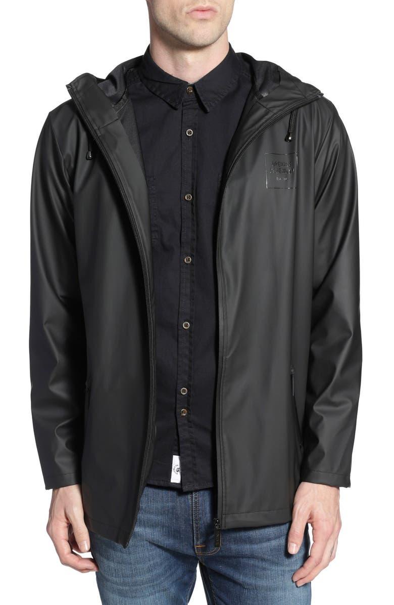 RAINS 'OC Exclusive' Waterproof Breaker Jacket, Main, color, 001