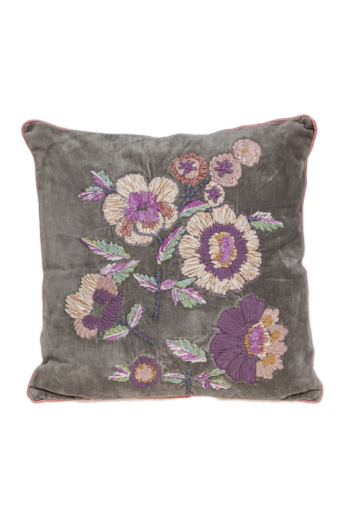 Image of Parkland Collection Penelope Transitional Beige Pillow Cover With Poly Insert