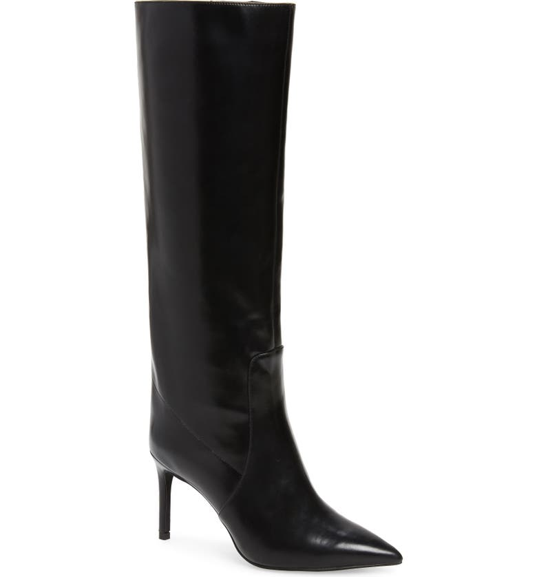 JEFFREY CAMPBELL Arsen Pointed Toe Knee High Boot, Main, color, 001