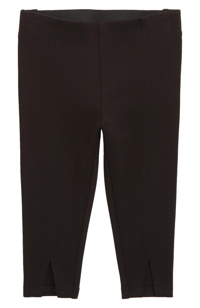 SOMETHING NAVY Ponte Split Leggings, Main, color, 001