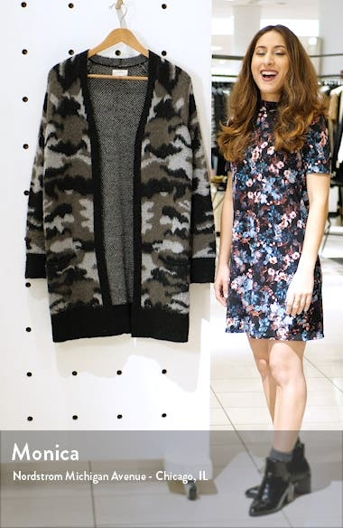 Camo Open Front Long Cardigan, sales video thumbnail