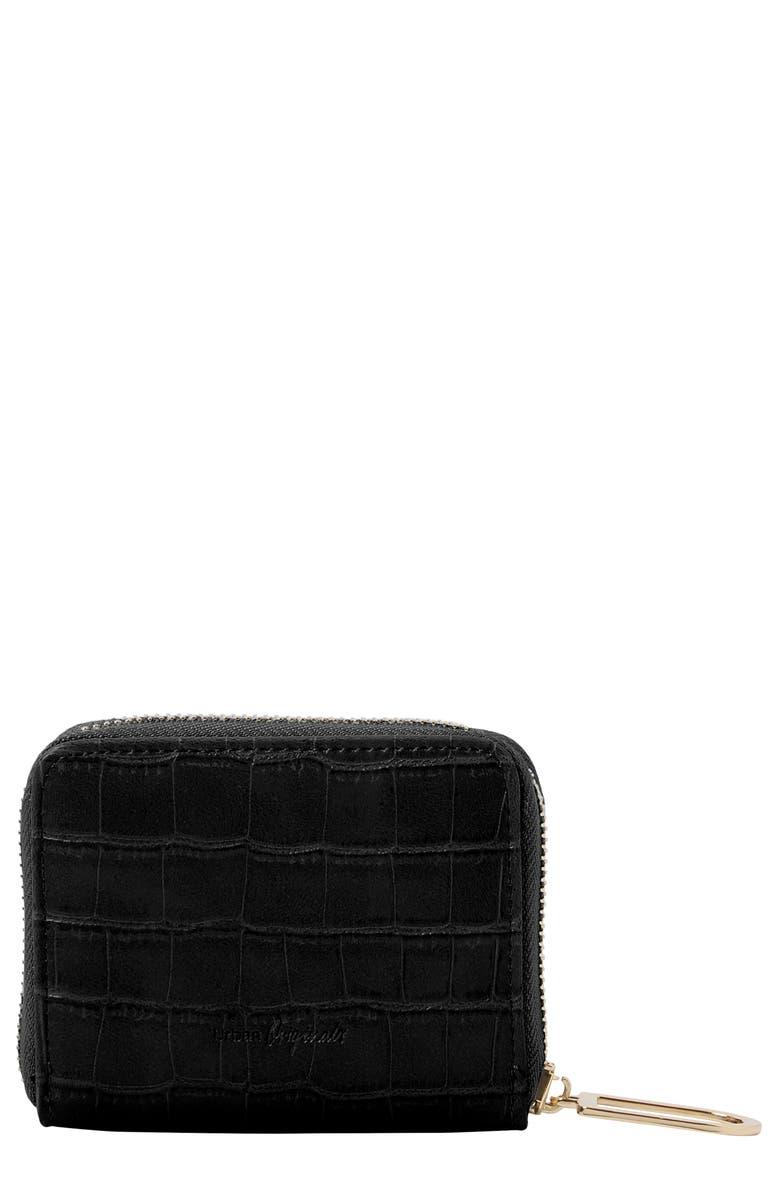 URBAN ORIGINALS Essentials Vegan Leather Wallet, Main, color, BLACK CROC
