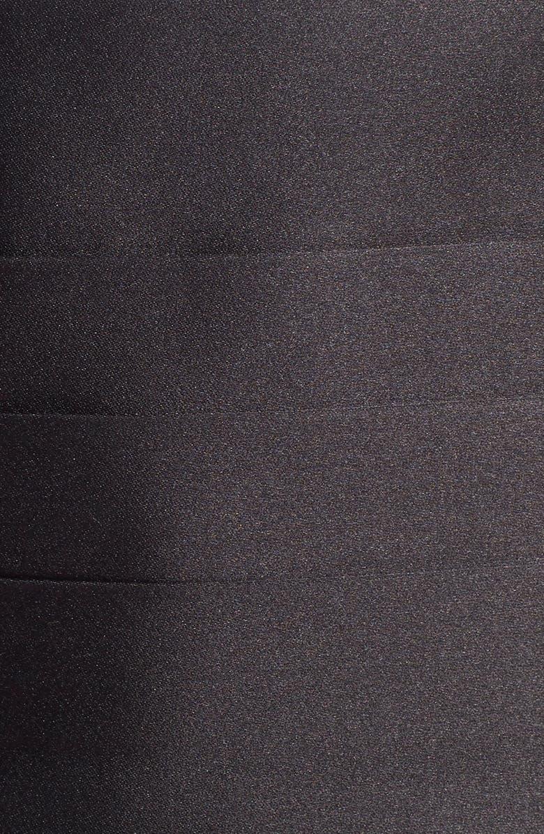 DAVID DONAHUE Silk Cummerbund & Bow Tie, Main, color, BLACK SATIN