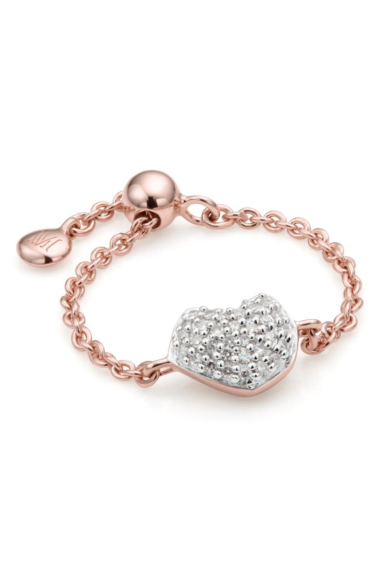 MONICA VINADER Nura Mini Heart Friendship Chain Ring, Main, color, 712