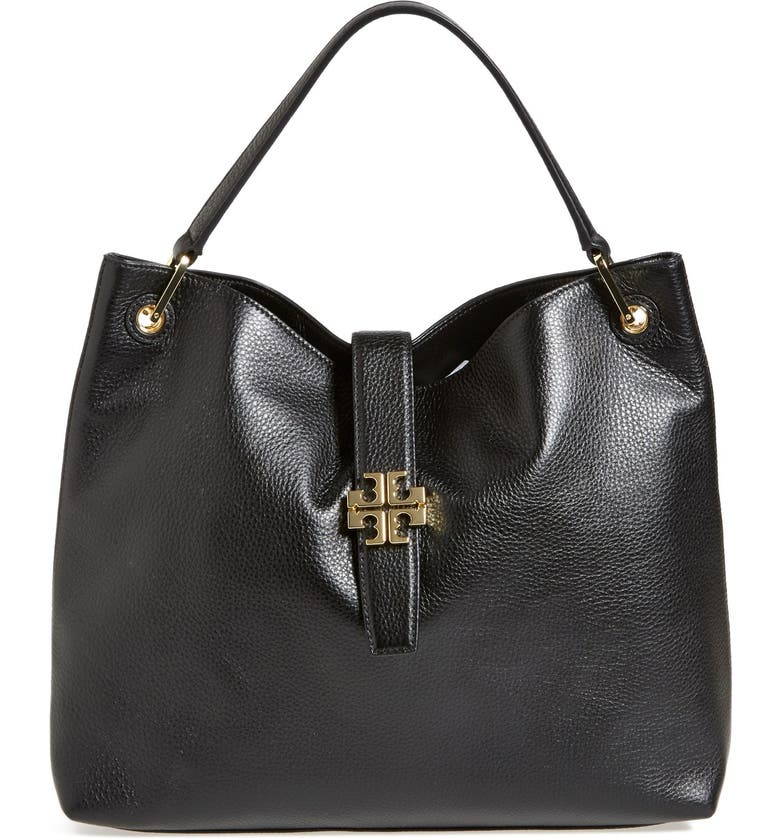 TORY BURCH 'Plaque' Hobo, Main, color, 001