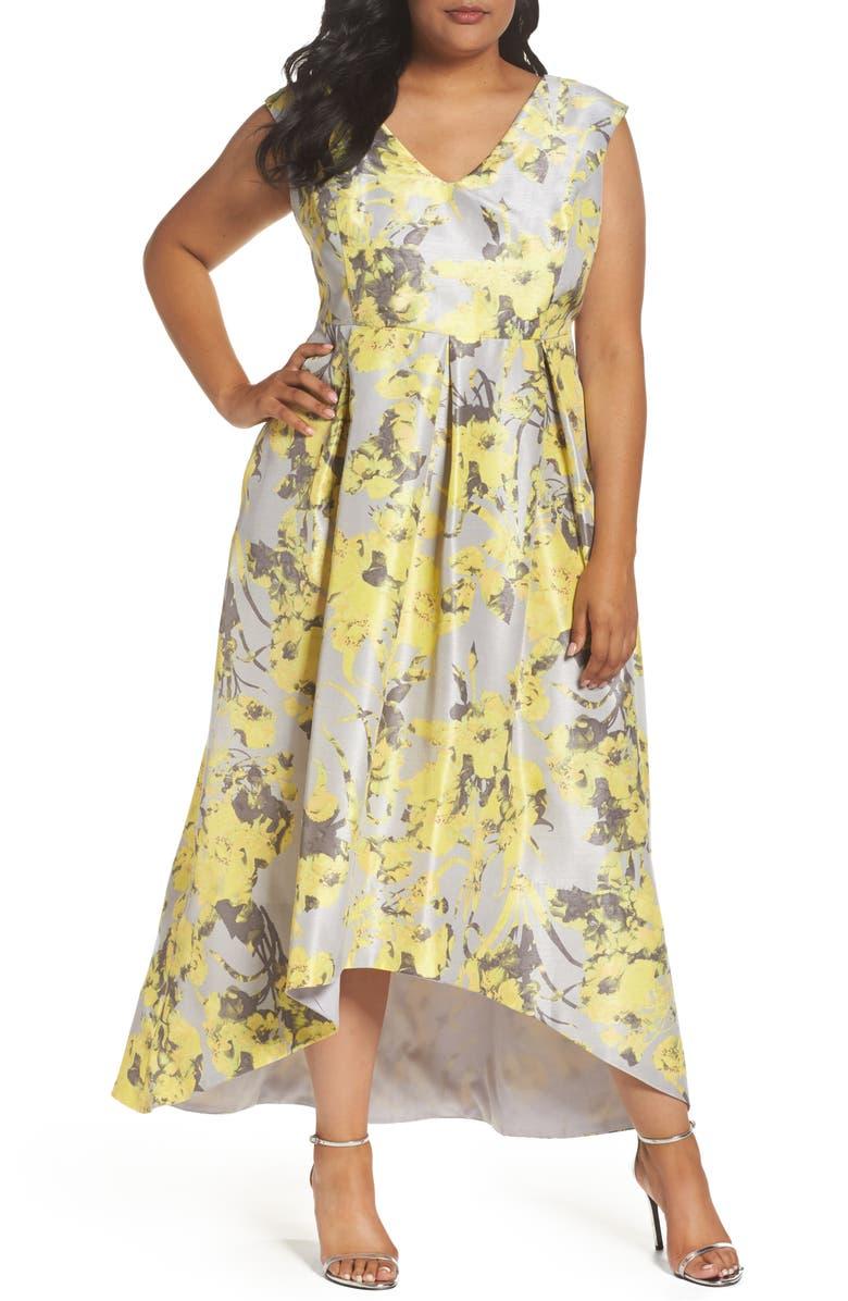 1058f468a5b Sangria Print High/Low Maxi Dress (Plus Size) | Nordstrom