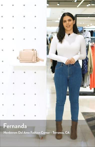 Small Evar Faux Leather Crossbody Bag, sales video thumbnail