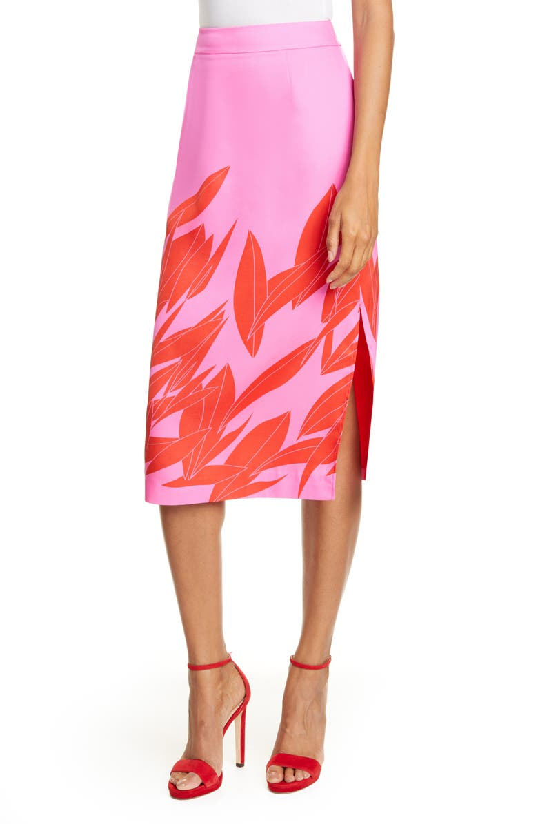 TED BAKER LONDON Luucas Sour Cherry Pencil Skirt, Main, color, BRIGHT PINK