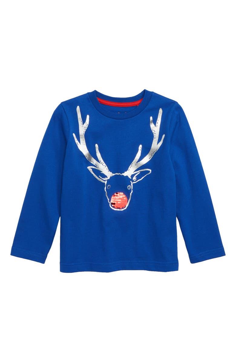 74d8a280b66 Mini Boden Festive Flip Sequin T-Shirt (Toddler Boys, Little Boys ...