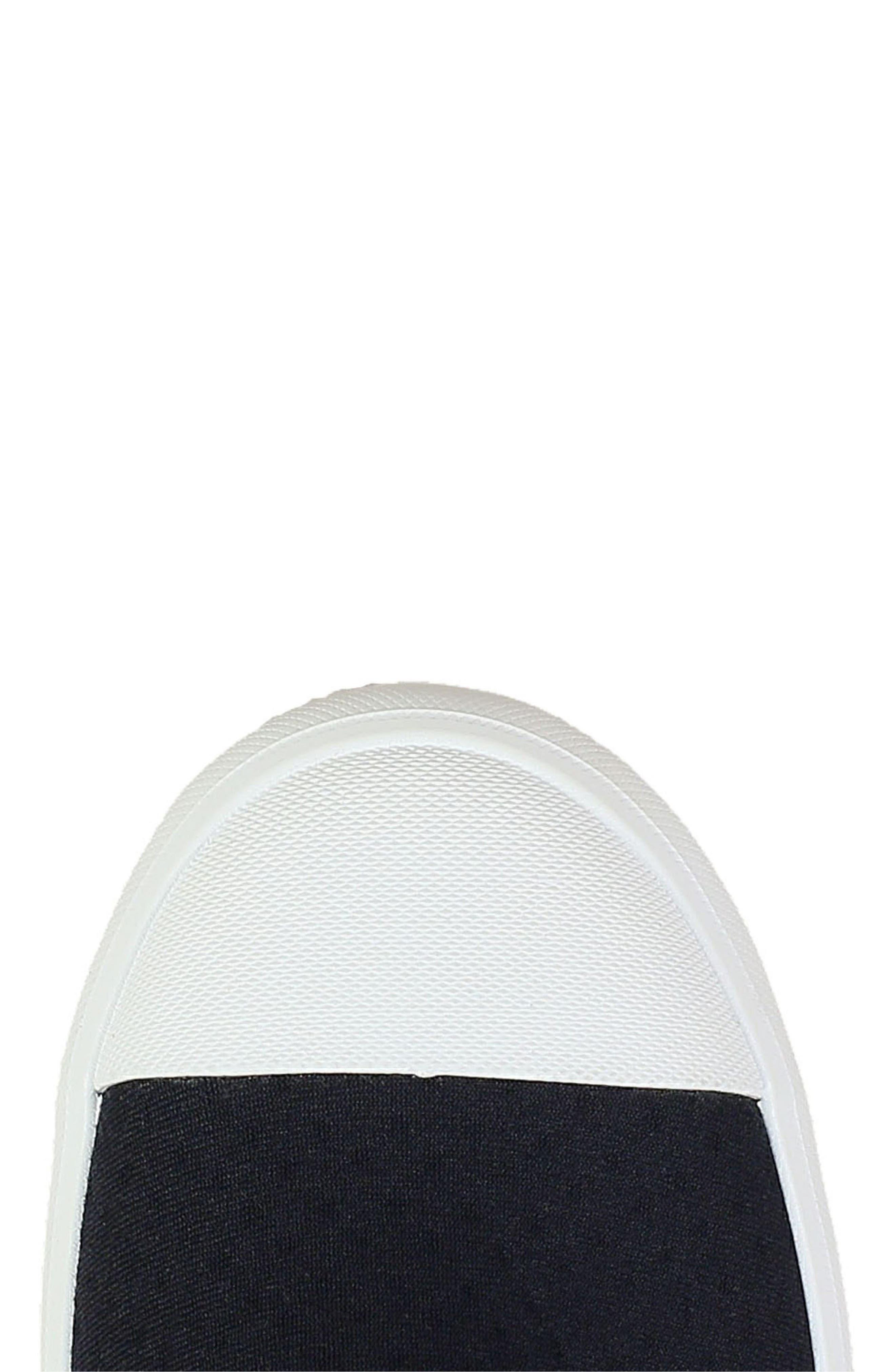 ,                             Kicker Slip-On Sneaker,                             Alternate thumbnail 8, color,                             BLACK CANVAS