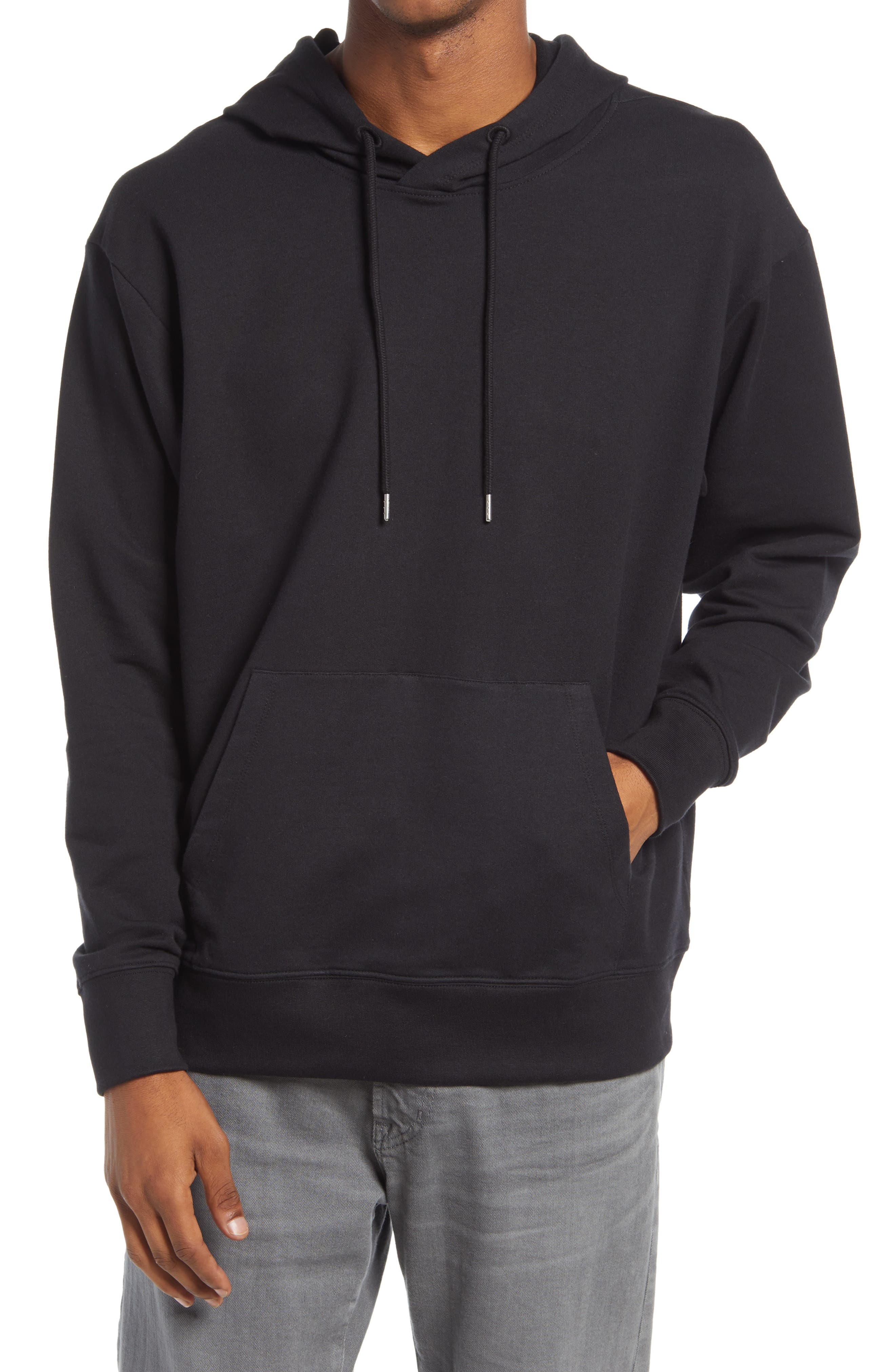 Stretchy cotton-blend fleece moves with you all day in a hooded sweatshirt sporting a roomy fit that\\\'s easy to layer and always comfortable on its own. Style Name: Bp. Men\\\'S Hoodie. Style Number: 6061731. Available in stores.