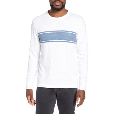 Faherty Slub Stripe Long Sleeve T-Shirt, White
