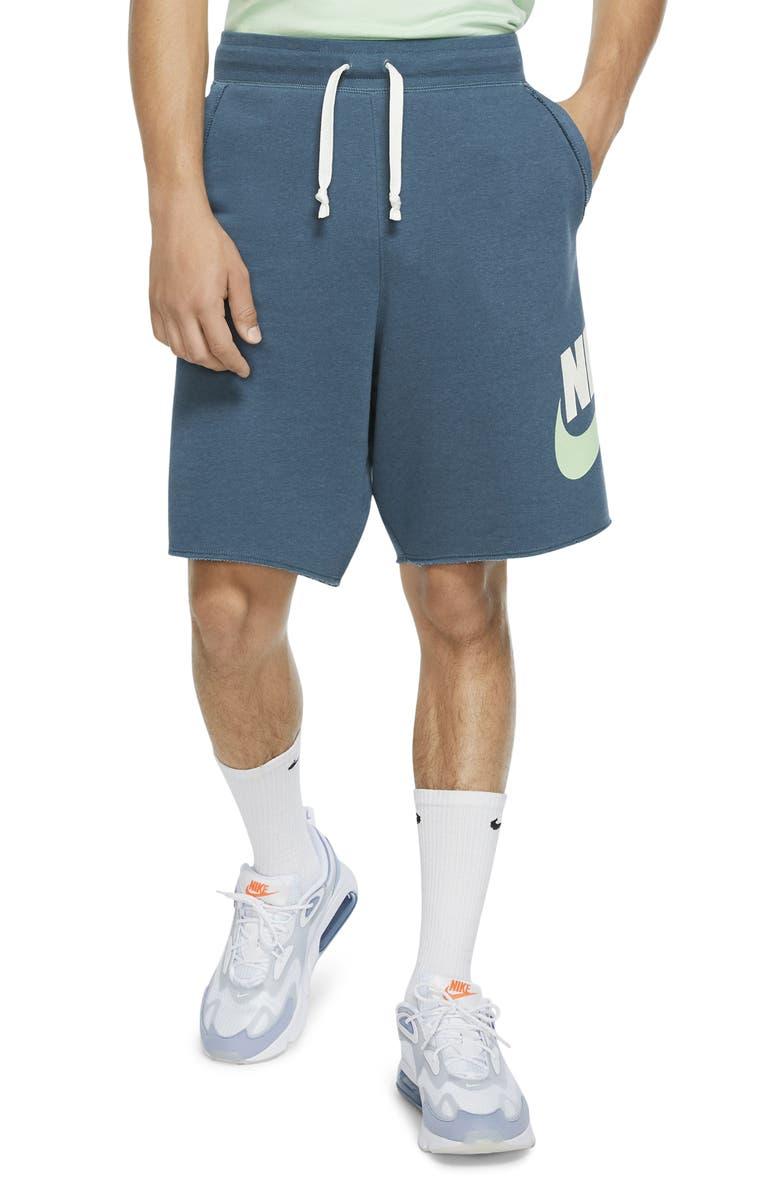 NIKE Sportswear Alumni Shorts, Main, color, ASH GREEN/ SAIL
