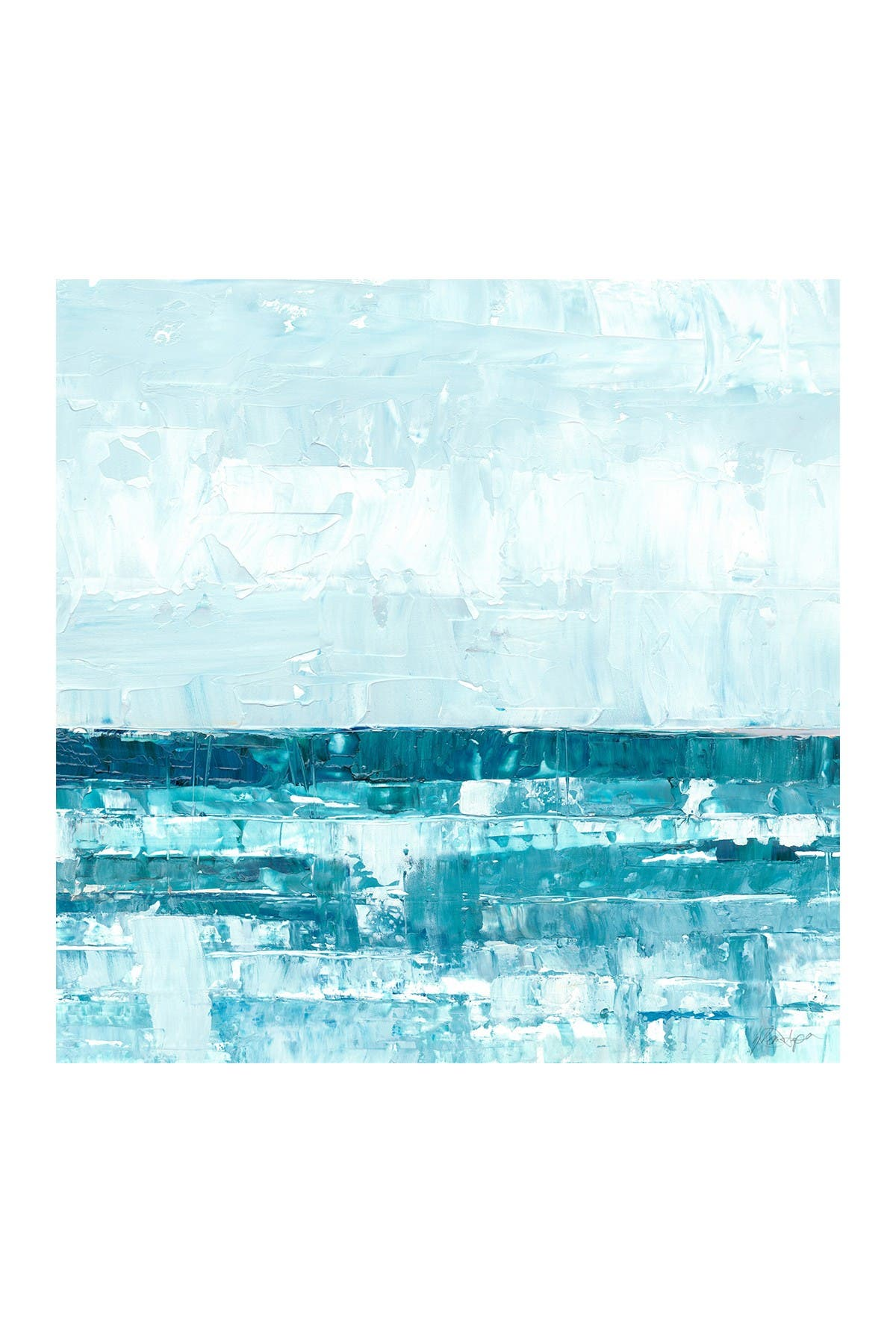"Image of Marmont Hill Inc. Edge of the World V Painting Print on Wrapped Canvas - 48"" x 48"""