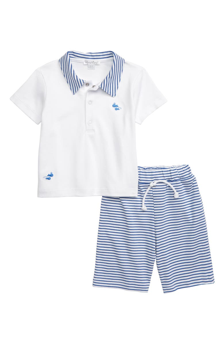 Kissy Kissy Whales Bermuda Polo Shorts Set Baby