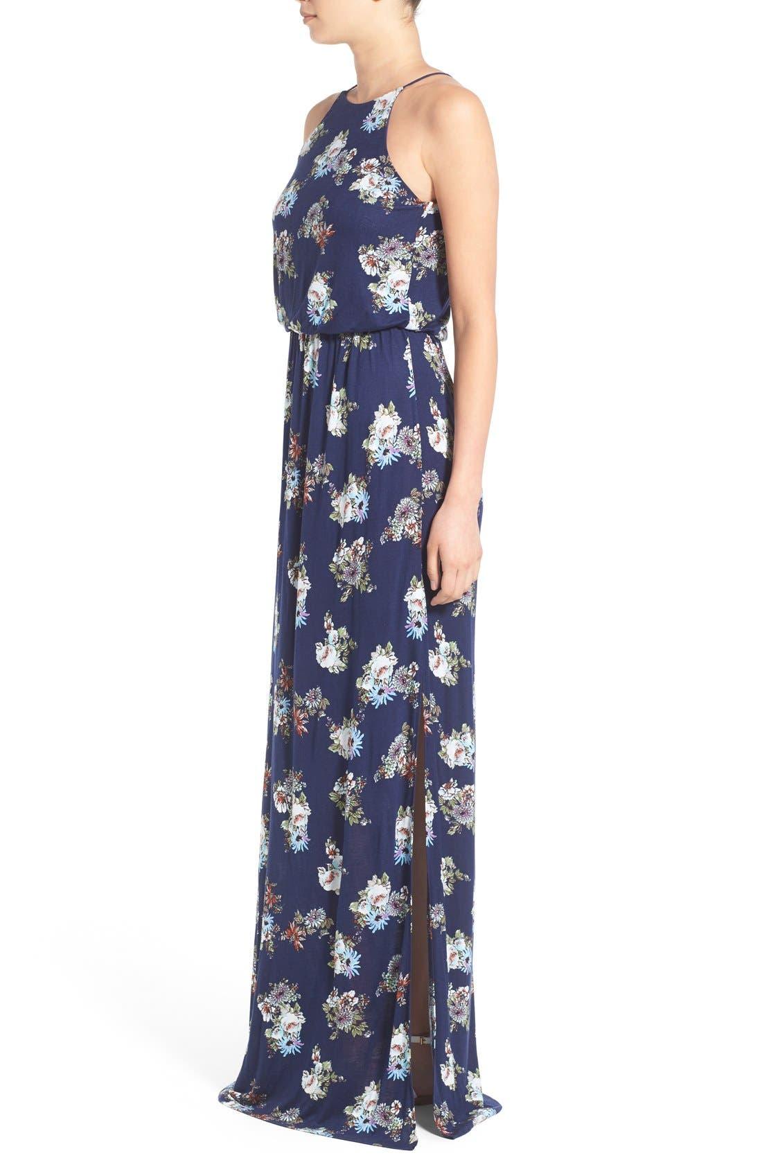 ,                             High Neck Maxi Dress,                             Alternate thumbnail 110, color,                             471