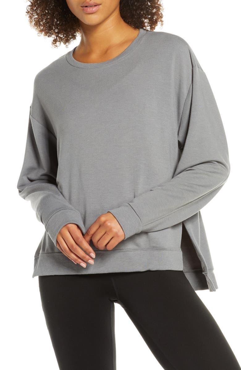 ZELLA Split Hem Sweatshirt, Main, color, 030