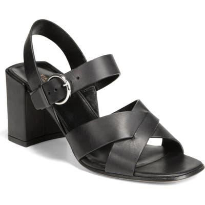 Via Spiga Opal Quarter Strap Sandal- Black